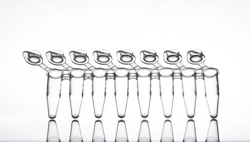 PCR stripy se samostatnými víčky